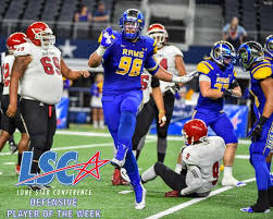 Clayton Callicutt from Angelo State is a very sound pass rusher with great skills