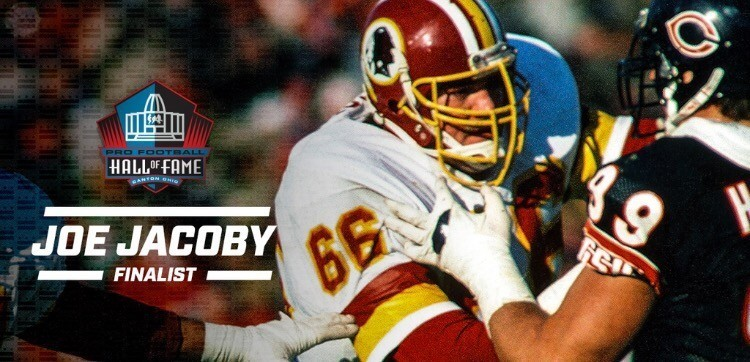 Former undrafted stud Joe Jacoby made the semi final list for the Pro Football Hall of Fame