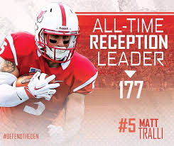 Marist College wide out Matt Tralli is a beast on the field. The kid has speed and great hands
